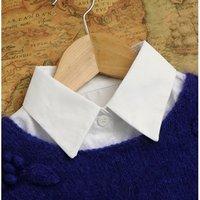 2015New  Women Vintage fake diamond pearl collar Decor Fake Half Blouse Tops Detachable Collar Blusas doll collar necklace