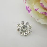(OY426 17mm)100pcs Shinny Clear Crystal Rhinestone Button Shank For Advanced Flower Center