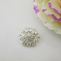 (OY419 20mm)100pcs Gorgeous Clear Crystal Rhinestone Button Shank For Ribbon Bow