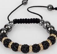 Minites kills NEW TG J Ball Beads Crystal Shamballa Bracelet Fasion Happy New Year Gift SM-14