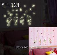YT-121 Luminous stickers Wall stickers Switch sticker Free Shipping