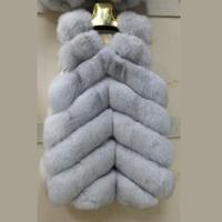 New 100% Genuine Fox Fur Vest Wholeskin Fox Fur Outwear Coats with 6XL Big Size Wholesale Price