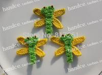 fashion free shipping cotton crochet applique parches de flores  patches for clothing iron DIY cloth decoration item felt flower