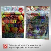 Custom printed hologram fruit punch herbal incense bag , mylar fruit punch potpourri bag 3+1g