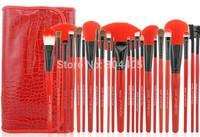 24ps makeup brush set, 24pcs cosmetic brush set professional 3 color choose