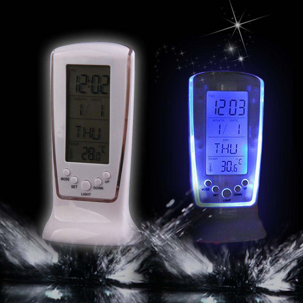NI5L New Digital LCD Alarm LED clock calendar thermometer Free Shipping(China (Mainland))