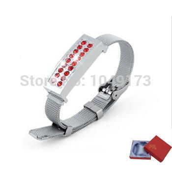 Bracelet USB Flash Drive 64GB Jewelry Bracelet Pen Drive 64GB Flash Memory Gift USB 2.0 Flash Card Thumb Drive 64GB Crystal USB(China (Mainland))