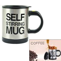 Automatic Stirring Mixing Coffee Tea Cup Gift Black Lazy Self Stirring Mug V3NF