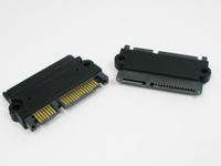 High QualitySATA 22Pin 7+15 pin Male plug to SATA 22p 7+15P Female jack convertor adapter