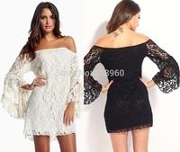 off the shoulder sexy party dresses women 2015 vestido chiffon lace loose dress plus size womens dresses,ropa,vestidos renda
