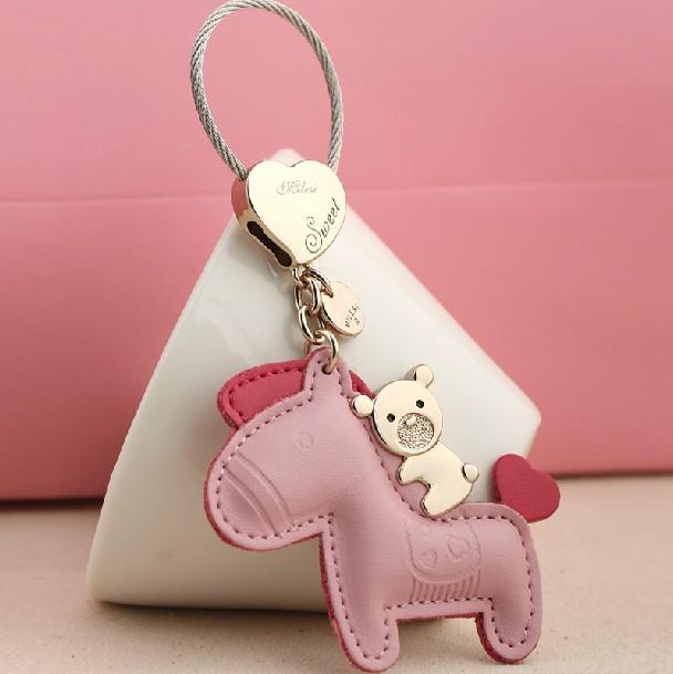 Milesi - New 2014 Brand Horse Key chain Keychain Trinket Key Holder Rings for Women Novelty Gift innovative Items Bag Pendant(China (Mainland))