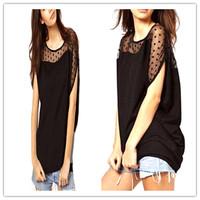 Fashion Design 2015 Summer Women New Irregular Chiffon T-shirt Short Sleeve T Shirt 3 Sizes