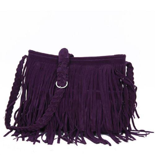 Fashion Tassel Celebrity Shoulder Messenger Cross Body Bag Tote Handbag 39