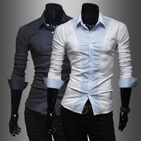 2014 New Slim Polka Dot long-sleeved Men's Fashion Men's Shirts Larry color H765 Size M-XXL