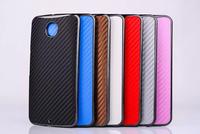 100pcs/lot 7 color Carbon Fiber Case for Motorola Nexus 6 Hard Back Cover for Google Nexus 6 mobile phone case