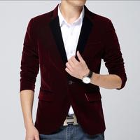2015 New Arrival Men's Spring Casual Blazers Stylish Slim Corduroy Blazer Men Fashion Suit Jacket