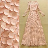 High Quality New Fashion  2015 Fashion Stitching lace dress sexy dress temperament dress