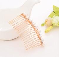Min order is $10(mix order)Bridal Wedding Flower Crystal Rhinestones Pearls Women Hair Clip Comb Diamante