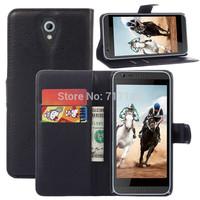 1x Luxury Lichee Flip PU Leather Wallet Case For HTC Desire 620 Card Slots & Stand Holder + Free Screen Film