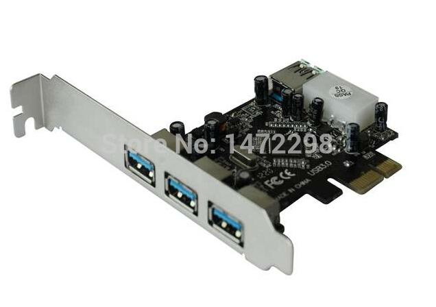 PCI Express USB3.0 3 ext+1 int ports multi controller card(China (Mainland))