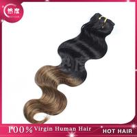 Two Tone Ombre Human Hair 5A Grade 3pcs/lot Brazilian Virgin Hair Body Wave Ombre Hair Extensions 1b/#30 Brazilian Hair Weave
