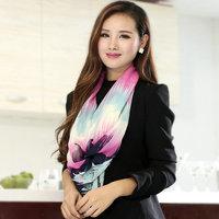 New Arrival limited edition Beautiful print scarf for women silk hmong shawls winter warm chiffon bufanda for girl 6 style 10pcs
