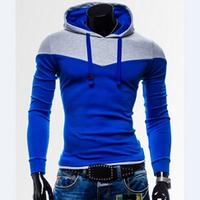 Big Size 4XL Winter Fleece Men Hoodies 2015 Spring Fashion Brand Hoodie Man Casual Sport Suit Slim Sweatshirt Tracksuits Z1262