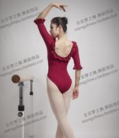 Half sleeve princess ballet dance clothes laciness leotard yoga