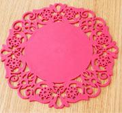 2 Pieces/Lot Size L Circular Silica  Fashion Pattern  Heat Insulation Pads Antifouling Eat Mat Hot Dish Bowl MATS