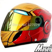 Masei 830 IRONMAN Cascos Motorcycle Racing Helmet Dirt Bike Helmets in Red