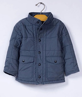 children outwear coats boy coat  jackets for boys quilt thick 2015 Spring/Autumn thick jacket for baby clothing