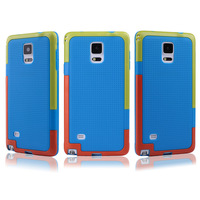 Wholesale 500pcs/lot Top Quality South Koreal TPU+PC Cover Case For Samsung Galaxy Note 4  Case Cover via DHL/Fedex