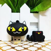 free shipping cute cat usb pen drive 64gb usb2.0 usb flash drive 64gb flash memory pendriver pen stick u disk usb flash driver