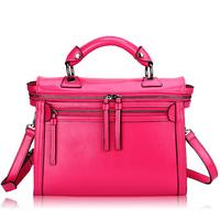 designer handbags high quality Double Zipper Women Messenger Bag Elegant desigual genuine leather bag bolsas femininas