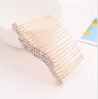 Min order is $10(mix order)Fashion Bridal Wedding Hot Sell Crystal Rhinestones Women Hair Clip Comb Diamante