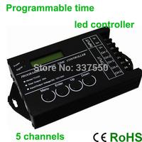 Amplifier Rgb Led Controller 2pcs/lot Tc420 5channels 20a Dc12v Programmable Usb Led Time Controller for Rgb&single Color Strip
