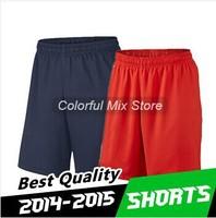 Free Shipping 2015 IBRAHIMOVIC T SILVA LUCAS Soccer Shorts Best Thai Quality 14 15 Jerseys Football Shorts