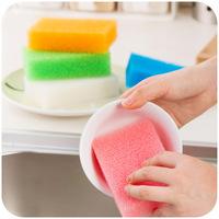 imitation loofah sponge Xiguo nano dishwashing detergent to clean the kitchen sponge brush 1 set = 2 pcs QJ007