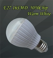E27 16 SMD 5050 home Spotlight Lamp Bulb 2.5-3W warm white with Cover