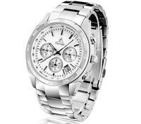 TIERXDA Men's business watches, stainless steel watches, waterproof watches Business gifts, gifts for men Valentine's Day gift