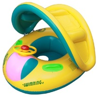 Hot Sale Baby swimming Ring Inflatable Toddler Baby Swim Ring Float Seat Swimming Pool Seat with Canopy 12-36 month