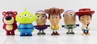 DHL 100sets 1set=8pcs Q Version 8cm Toy Story PVC Models Buzz Light year Woody Jessie Bulleye Figure Toys Wholesale