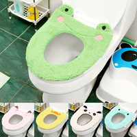 Home lovely cartoon warm cashmere toilet mat toilet potty toilet seat cover thick cover washable YS009