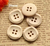 20mm, Natural wood color wooden buttons, 2 holes wooden button for garment, sewing accessories (ss-89-1)