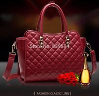 2014 European and American fashion new winter plaid handbag shoulder bag diagonal Quilted handbags