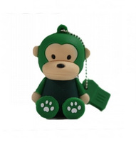 New Cartoon Cute Lovely Green Monkey USB 2.0 Flash Drive 2GB 4GB 8GB 16GB 32GB Pen Drive Memory stick U Disk Drop Shipping