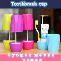 Creative Toiletries Toothbrush Toothpaste Storage Box Plastic Bathroom Table Lamp Dustproof Toothbrush Cap Cup Holder FK672862