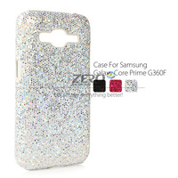 Sparkling Bling Hard Plastic Case For Samsung Galaxy Core Prime G360F G3606 Luxury Sequins Protective Rear Cover Back Shell