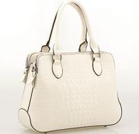 NO.1 New 2015  Women Genuine Leather Handbags Crocodile Famous Brand Handbag Designer Shoulder Messenger Women Leather Bags HN08