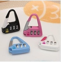 Mini 3 Digit Combination Password Padlock Travel Luggage Cases Boxes Mailboxes Lock Safety Security AKB-14A